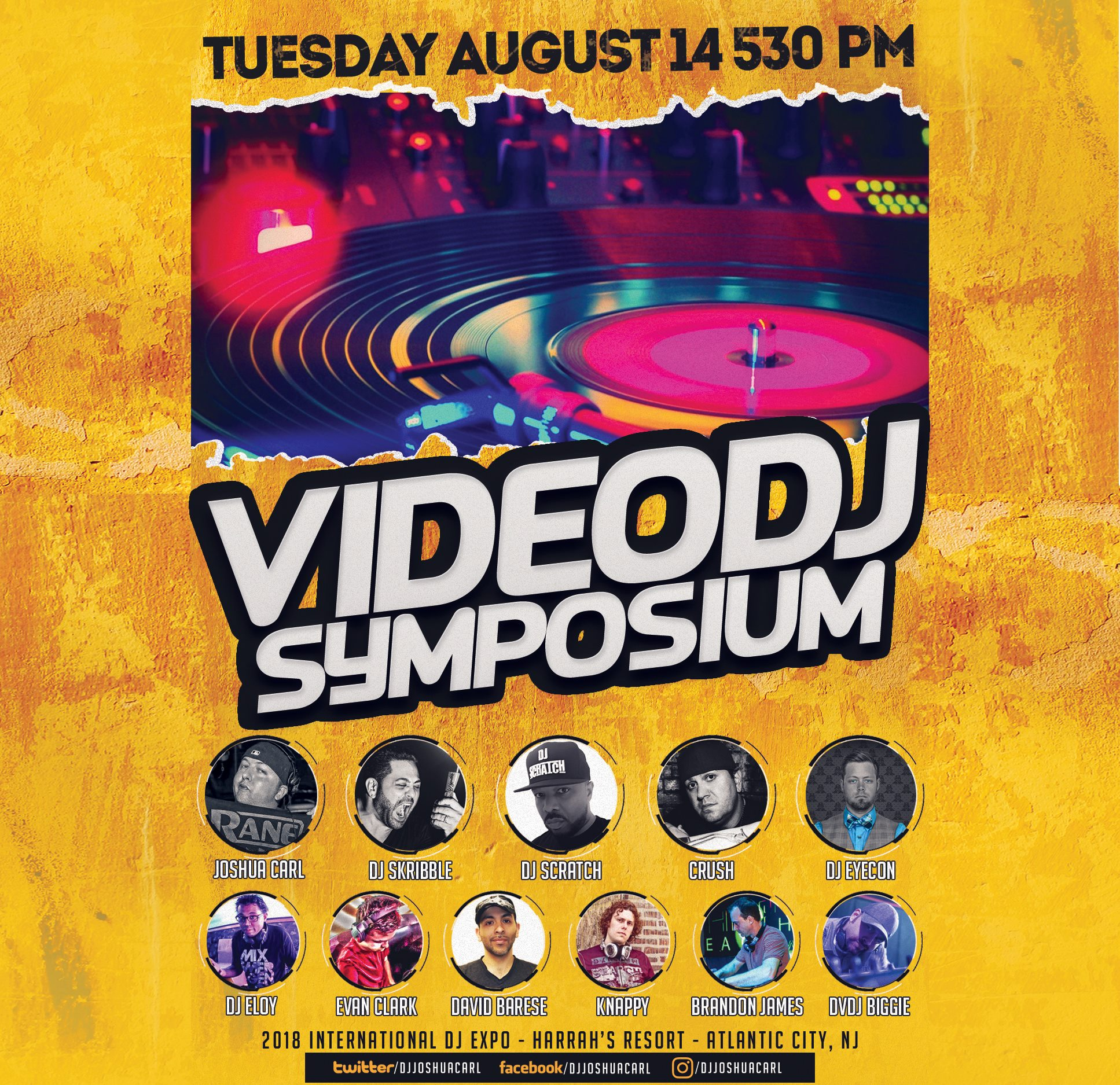 dj expo 2018 - video dj symposium flyer