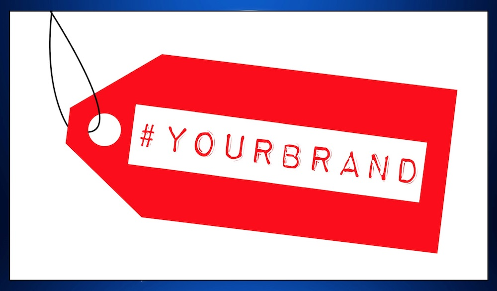 #yourbrand on luggage tag